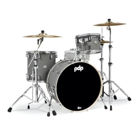 PDP Concept Maple 3pc Rock Drum Set - Satin Pewter