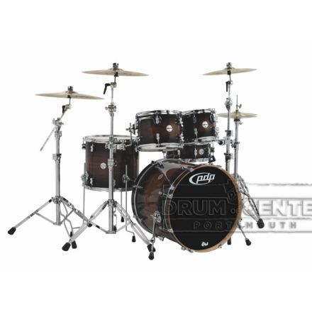 PDP Concept Exotic 5pc Drum Set Walnut Charcoal Burst