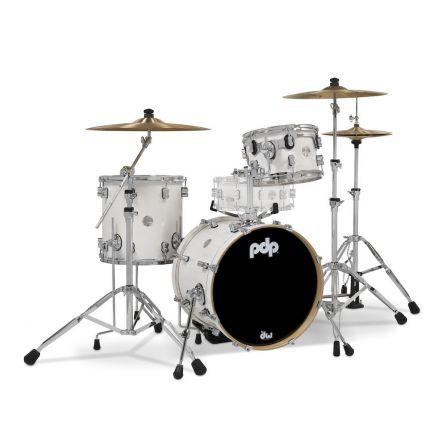 PDP Concept Maple 3pc Bop Drum Set - Pearlescent White