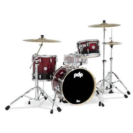 PDP Concept Maple 3pc Bop Drum Set - Red/Black Fade