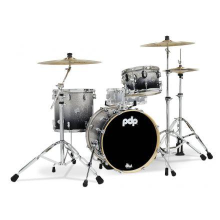 PDP Concept Maple 3pc Bop Drum Set Silver/Black Fade