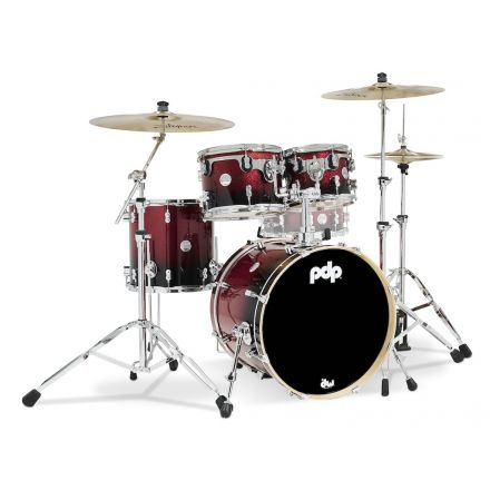 PDP Concept Maple 4pc Drum Set Red to Black Fade