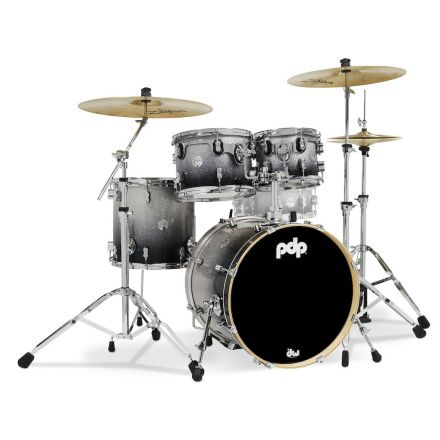 PDP Concept Maple 4pc Drum Set Silver to Black Fade
