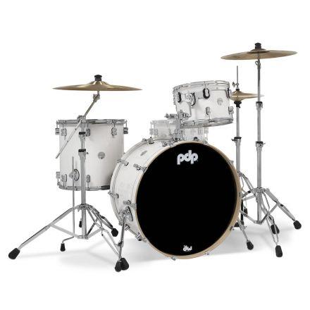 PDP Concept Maple 3pc Rock Drum Set - Pearlescent White