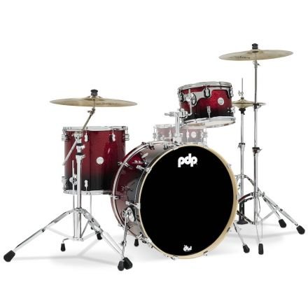 PDP Concept Maple 3pc Drum Set Red to Black Fade