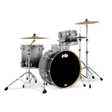 PDP Concept Maple 3pc Drum Set Silver to Black Fade