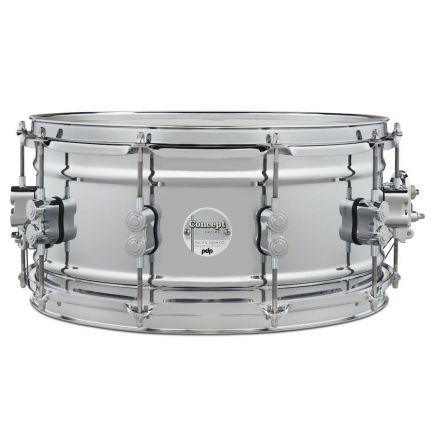 PDP Concept Chrome Over Steel Snare Drum - 14x6.5