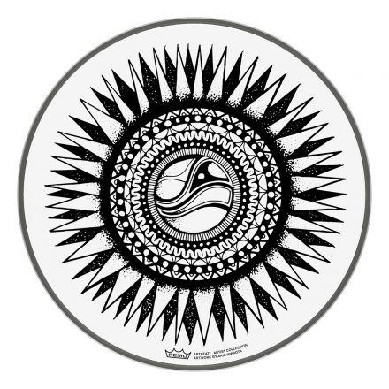 "Remo ARTBEAT Artist Collection Drumhead - Aric Improta New Sun 10"""