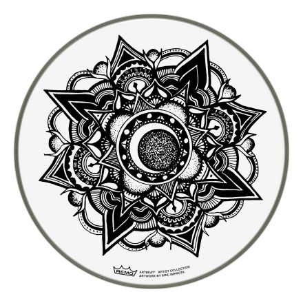 """Remo ARTBEAT Artist Collection Drumhead - Aric Improta Nocturnal Bloom 13"""""""