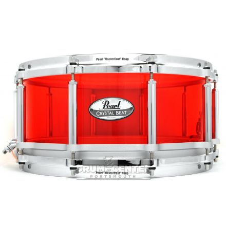 Pearl Crystal Beat Acrylic Free Floating Snare Drum 14x6.5 Ruby Red