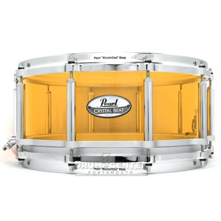 Pearl Crystal Beat Acrylic Free Floating Snare 14x6.5 Tangerine Glass