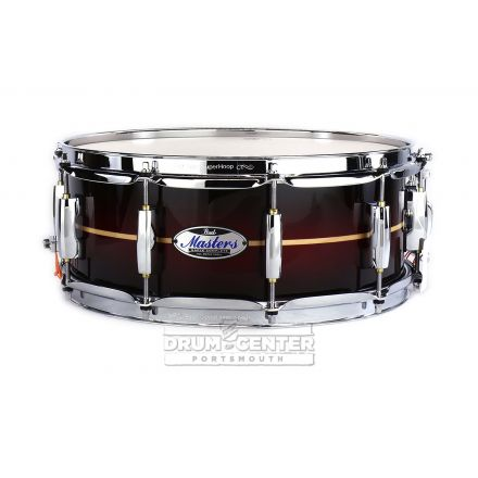 Pearl Masters Maple Complete 14x5.5 Snare Drum - Natural Banded Redburst