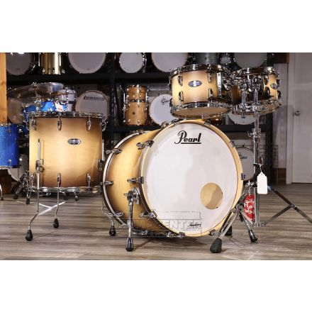 Pearl Masters Maple Complete 4pc Set 22/10/12/16 Satin Natural Burst