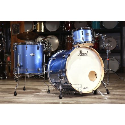 Pearl Masters Maple Complete 3pc Shell Pack w/22bd - Light Blue Metallic