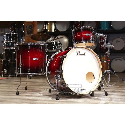 Pearl Masters Maple Complete 3pc Shell Pack w/20bd - Natural Banded Redburst