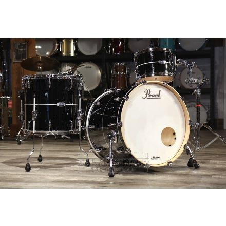 Pearl Masters Maple Complete 3pc Shell Pack w/22bd - Quicksilver Black
