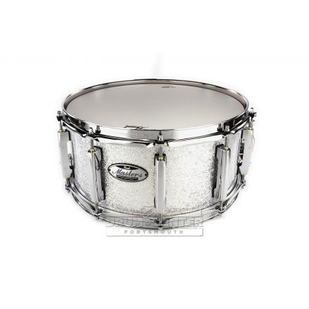Pearl Masters Maple MCT Music City Custom Snare Drum 14x6.5 - Classic Silver Sparkle