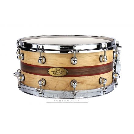 Pearl Music City Custom Solid Maple 14x6.5 Snare Drum - One Off Custom!