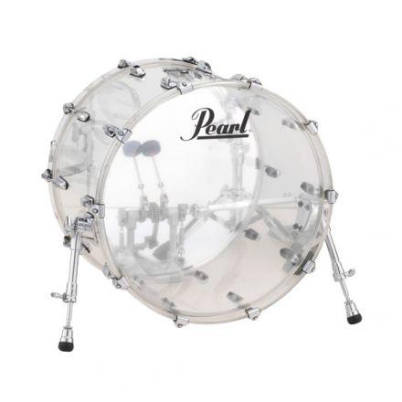 Pearl Crystal Beat Acrylic Bass Drum 20x15 Ultra Clear