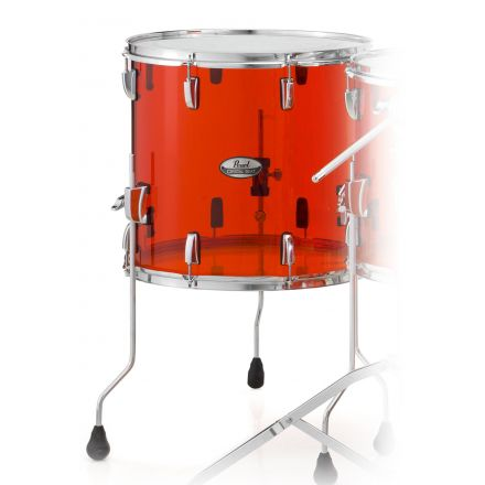 Pearl Crystal Beat Acrylic Floor Tom 14x13-Ruby Red