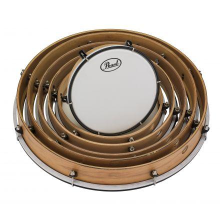 Pearl Frame Drum Set w/Lugs & Coated Heads - PFR0818C