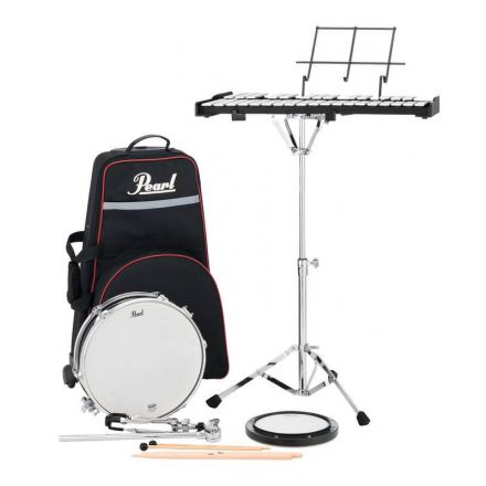 Pearl Student Percussion Learning Center: Snare & Bells w/Rolling Case