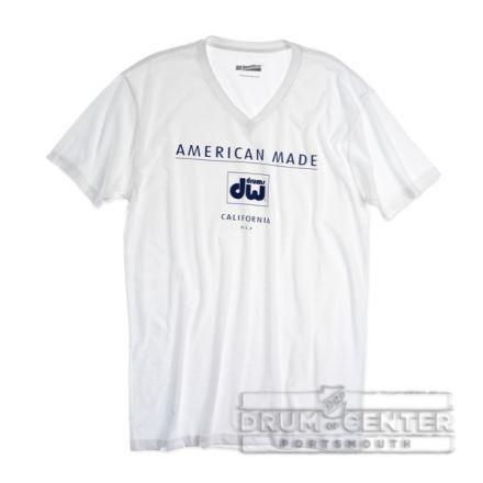 DW Wearables: American Made, White T-Shirt, Medium