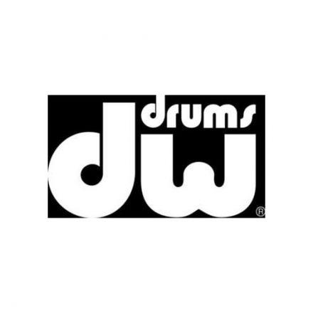 DW Sticker/DW Bass Drum Logo - White