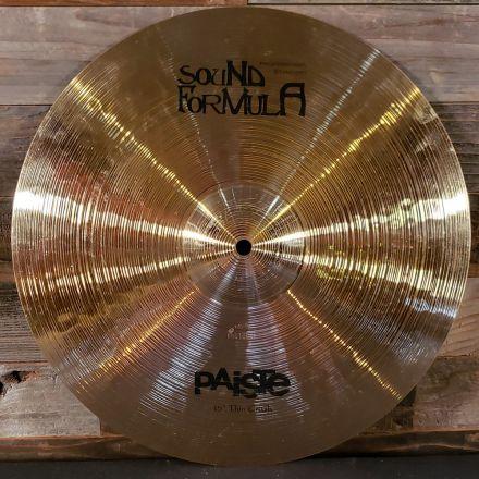 Used Paiste Sound Formula Thin Crash Cymbal 15