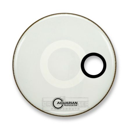 Aquarian Regulator Bass Drumhead 22 White