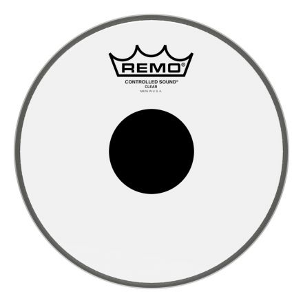 Remo Clear Controlled Sound 8 Inch Drum Head w/Black Dot On Top