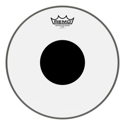 Remo Clear Controlled Sound 12 Inch Drum Head w/Black Dot On Top