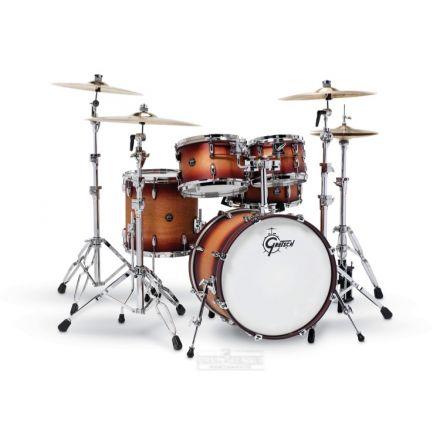 Gretsch Renown 5 Pc Drum Set : 20/10/12/14/14sn Satin Tobacco Burst