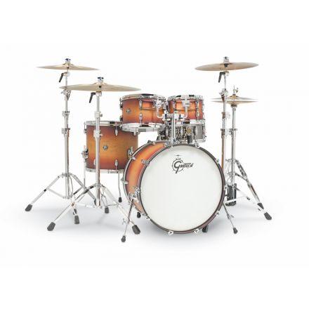 Gretsch Renown Drum Set : 4pc 22/10/12/16 - Satin Tobacco Burst