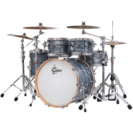 Gretsch Renown Drum Set : Euro 5pc with 22 Bd Silver Oyster Pearl