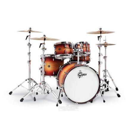 Gretsch Renown 5 Pc Drum Set : 22/10/12/16/14sn Satin Tobacco Burst