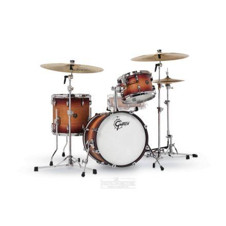 Gretsch Renown 3-Pc Drum Set : 18/12/14 Satin Tobacco Burst