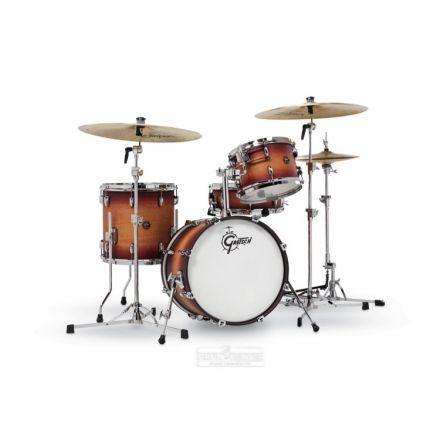 Gretsch Renown 4 Pc Drum Set : 18/12/14/14sn Satin Tobacco Burst