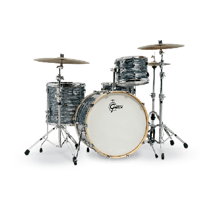 Gretsch Renown 4 Pc Drum Set with 24 Silver Oyster Pearl