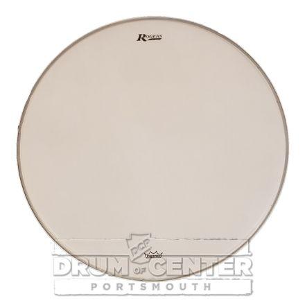 Rogers Logo Bass Drum Head 20 Coated White