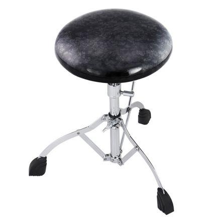 Rogers Throne Single Braced Swan Leg Base W/ Le Black Diamond Pearl Top