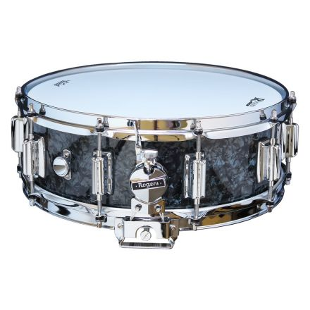 Rogers Dyna-sonic 14x5 Wood Shell Snare Drum Black Pearl w/Beavertail Lugs