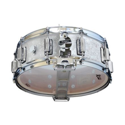 Rogers Dyna-sonic 14x5 Wood Shell Snare Drum White Marine Pearl w/Beavertail Lugs