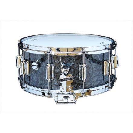 Rogers Dyna-sonic 14x6.5 Wood Shell Snare Drum Black Pearl w/Beavertail Lugs