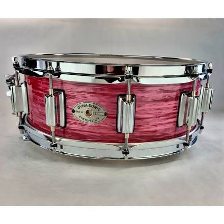 Rogers Dyna-sonic Wood Shell Snare Drum 14x5 Red Ripple Beavertail