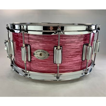 Rogers Dyna-sonic Wood Shell Snare Drum 14x6.5 Red Ripple Beavertail