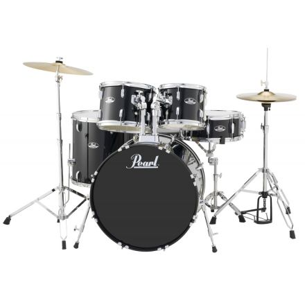Pearl Roadshow 5 Piece Drum Set With Hardware & Cymbals - Jet Black RS525SC/C31