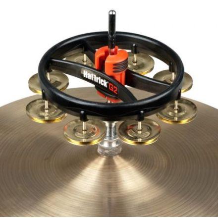 Rhythm Tech Hat Trick G2 Tambourine Single Row Brass Jingles