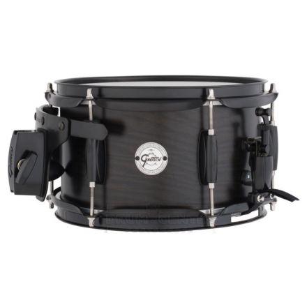 Gretsch 6X10 Ash 6 Lug Satin Ebony Snare Drum With Mount!