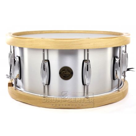Gretsch Aluminum Snare Drum With Wood Hoops